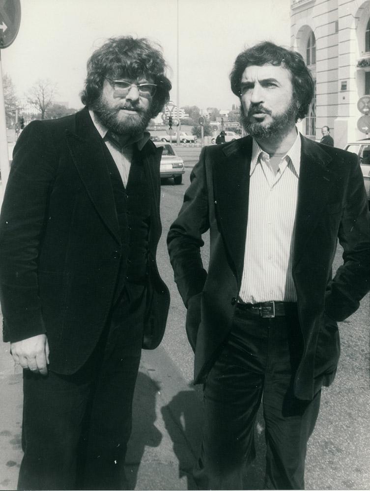 "Mit Jean-Claude Carrière bei der Premiere von ""Dorothea's Rache"""
