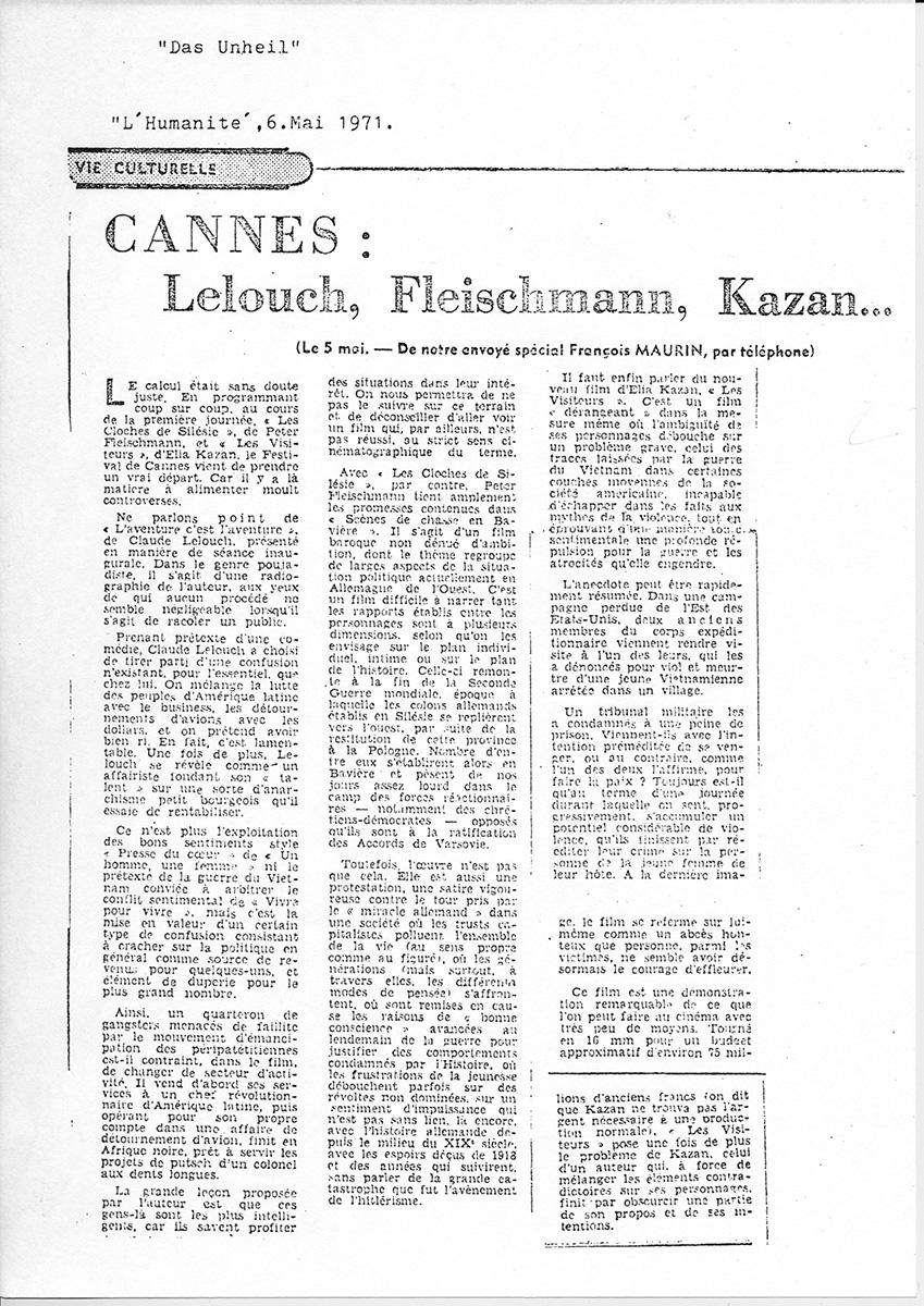 L'Humanité, 6. Mai 1971