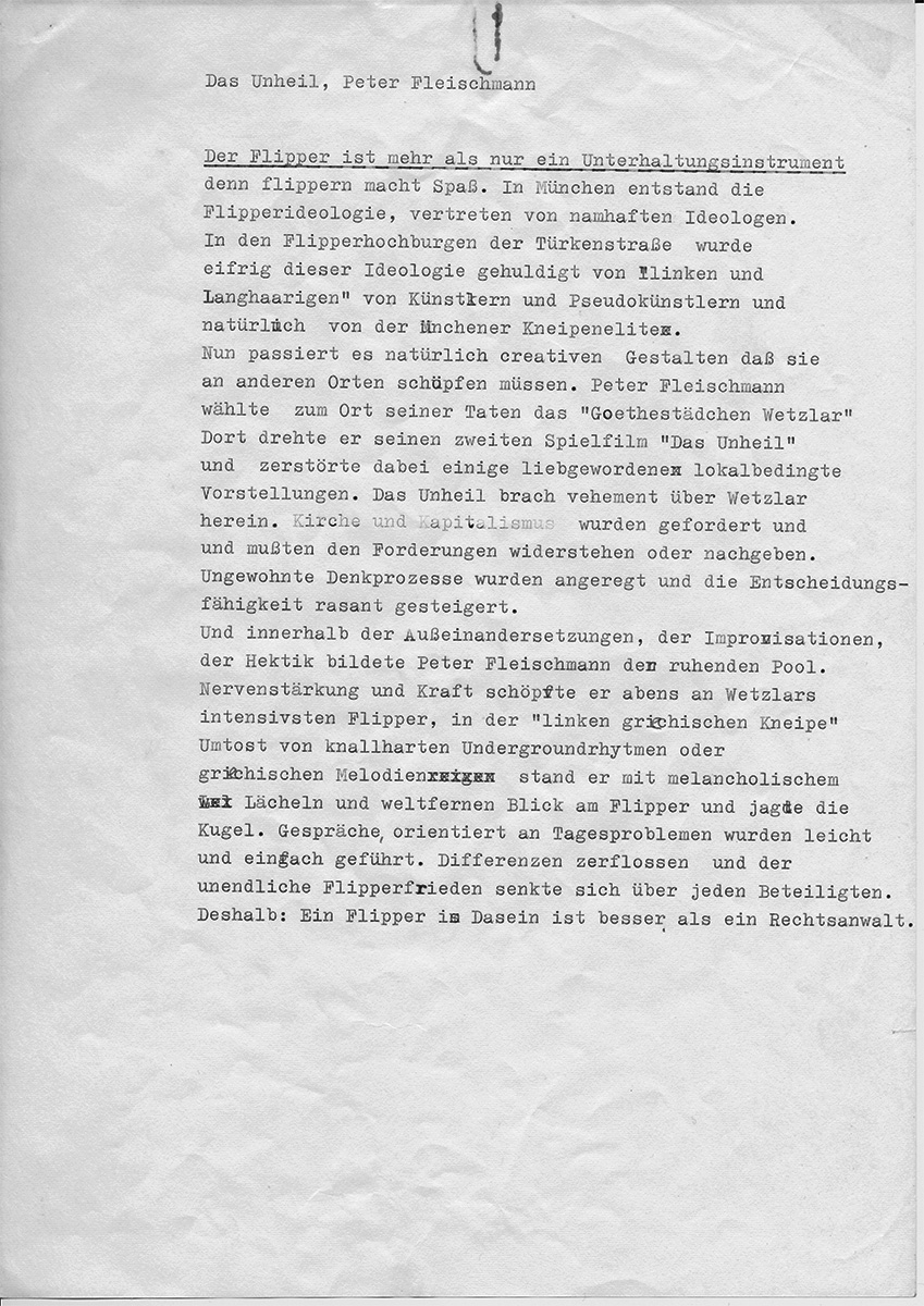 "Martin Walser über ""Das Unheil"" Blatt 3"