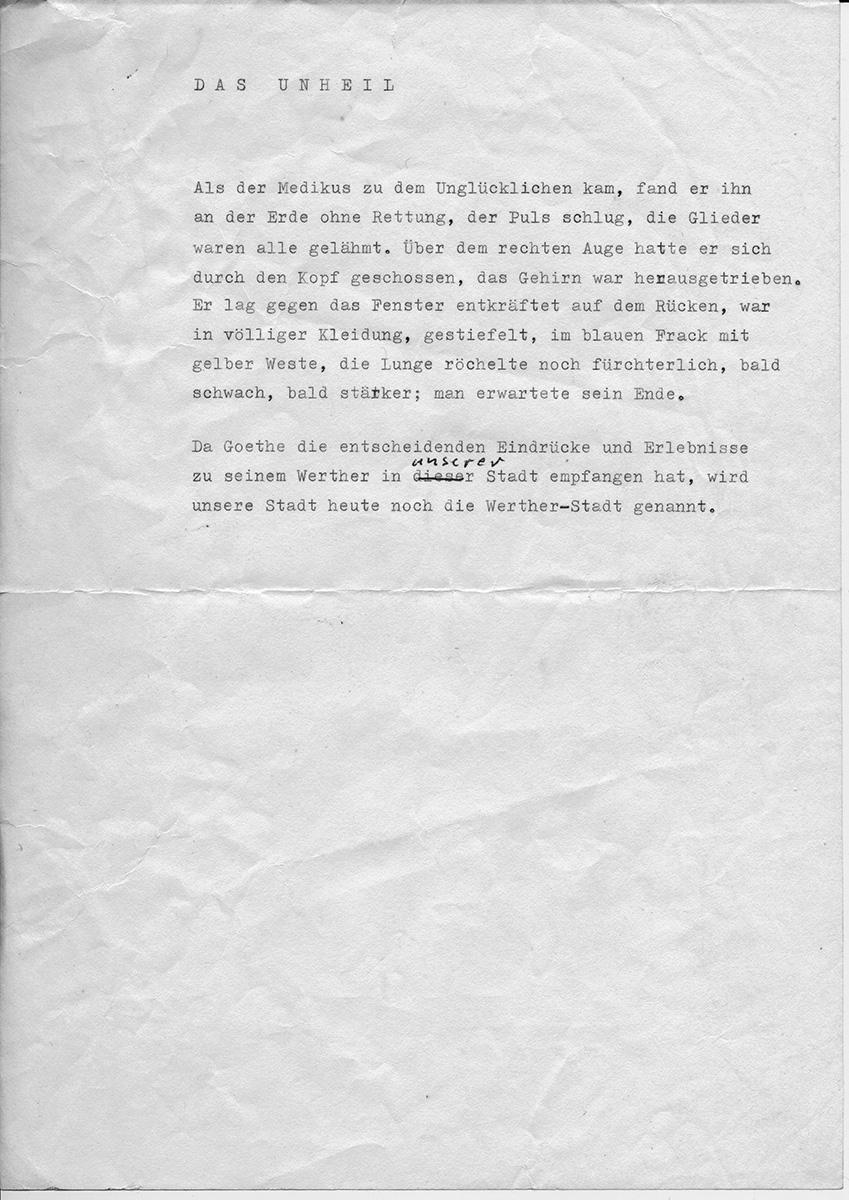Martin Walser Notiz