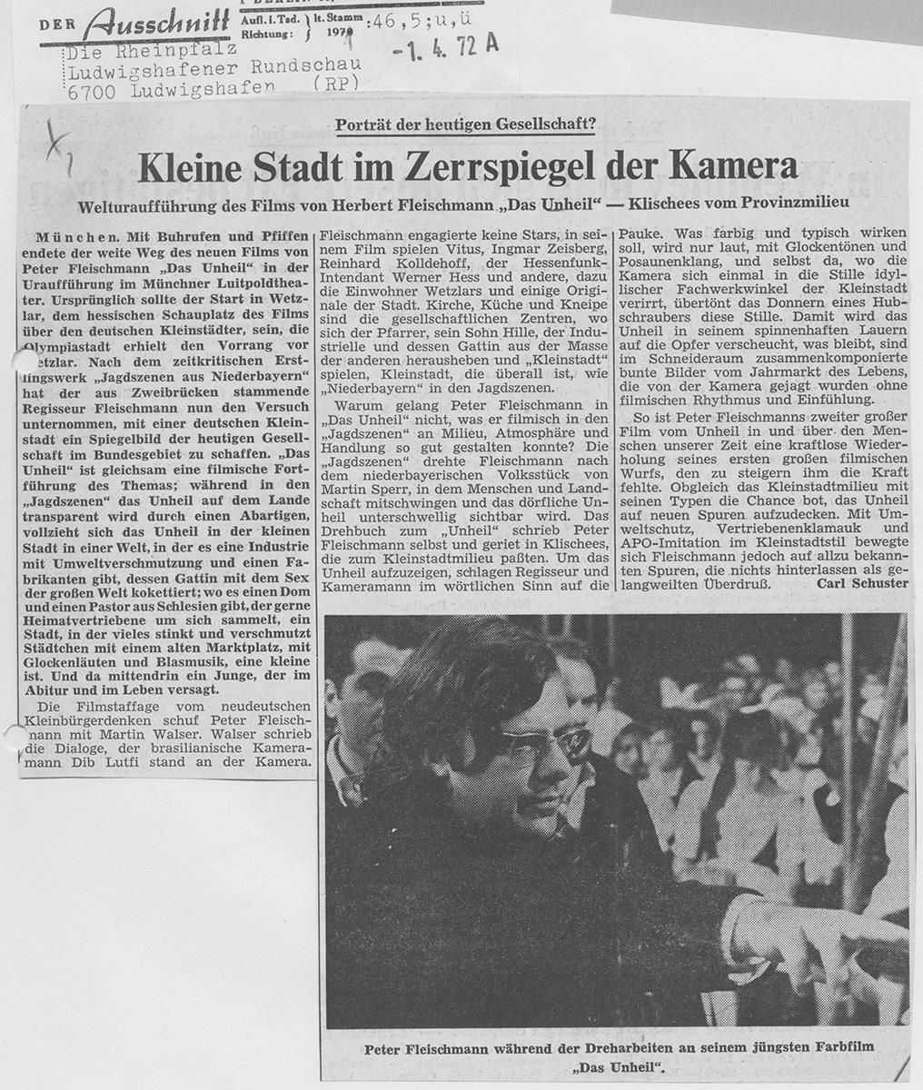 Die Rheinpfalz 1. April 1972