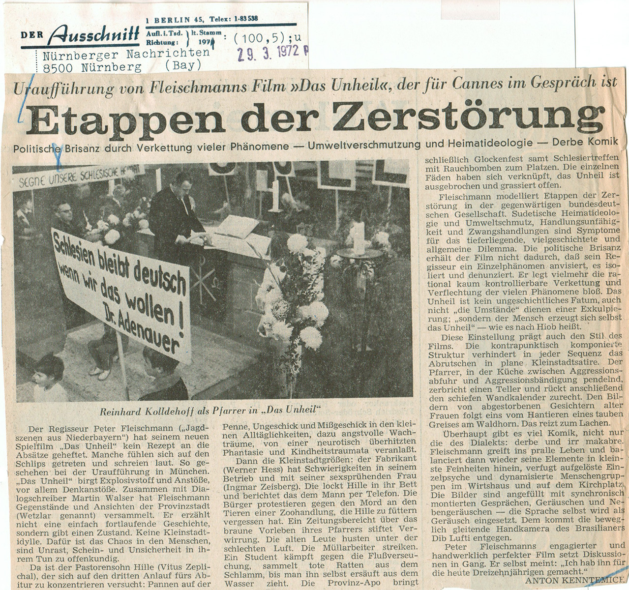 Nürnberger Nachrichten 29.03.1972